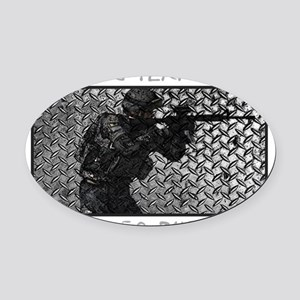WHEREVER THEY HIDE Oval Car Magnet