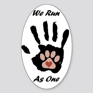 We run1 Sticker (Oval)