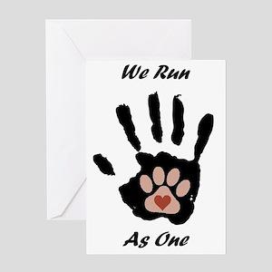 We run1 Greeting Card