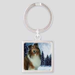 XmasGrace2010Mouse Square Keychain