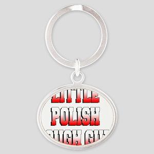 Little Polish Tough Guy Baby Shirt Oval Keychain