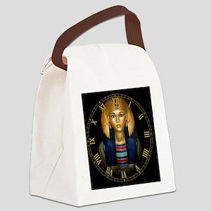 2-egyptian sarcophagus clock Canvas Lunch Bag