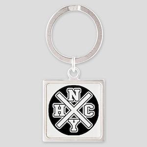 nyhcwhite Square Keychain