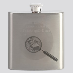 3-Moon Landing Blk Flask