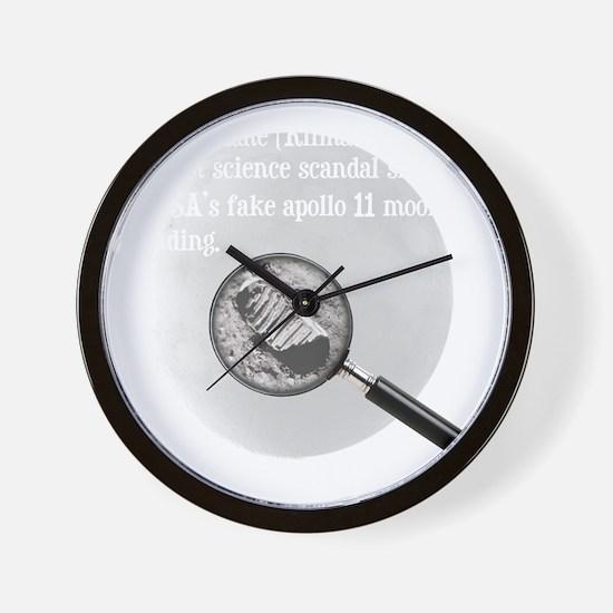 3-Moon Landing Blk Wall Clock