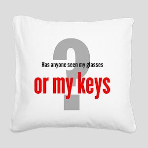 keys-newT_O-light Square Canvas Pillow