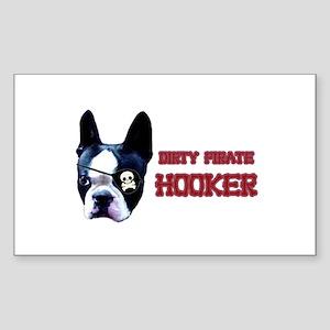 Dirty Pirate Hooker Rectangle Sticker