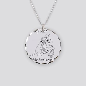 vettechf Necklace Circle Charm