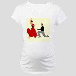 DWTS2 C-JOURNAL light Maternity T-Shirt