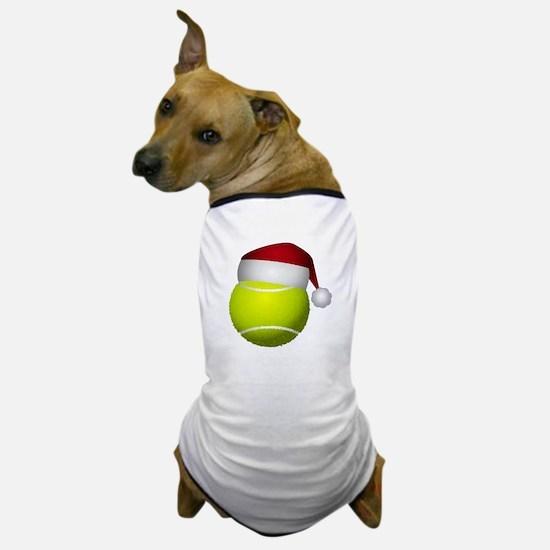 Christmas Tennis Ball with Santa Hat Dog T-Shirt
