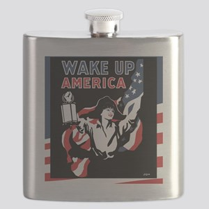 SARAH_WakeUpAmerica_12x10 Flask