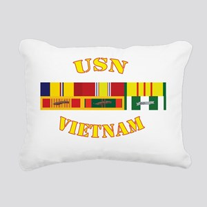 usn-vietnam-vet-shirt Rectangular Canvas Pillow
