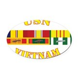 Military ribbons Oval Car Magnets