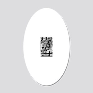 12 STEP SLOGONS IN BLACK 20x12 Oval Wall Decal