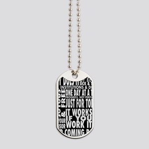 12 STEP SLOGONS IN BLACK Dog Tags