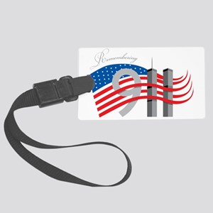 Remembering 911 Large Luggage Tag