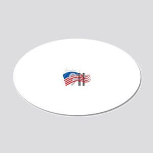 Remembering 911 20x12 Oval Wall Decal
