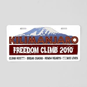 kilimanjaroLogoV0 Aluminum License Plate