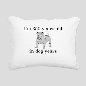 50 birthday dog years bulldog Rectangular Canvas P
