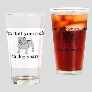 50 birthday dog years bulldog Drinking Glass