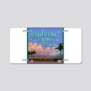 Madeira Beach Aluminum License Plate