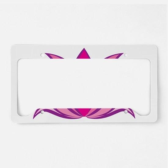 Lotus Illustration License Plate Holder