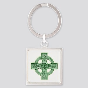 2-celtic cross equal arms Square Keychain