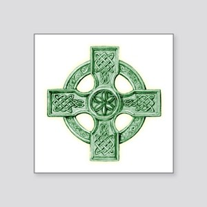 "2-celtic cross equal arms Square Sticker 3"" x 3"""