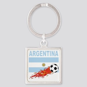 argentina Square Keychain
