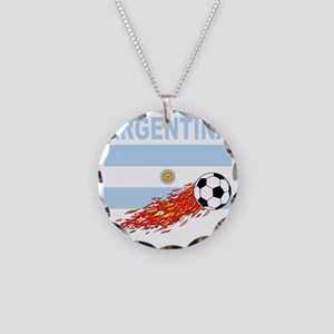 argentina Necklace Circle Charm