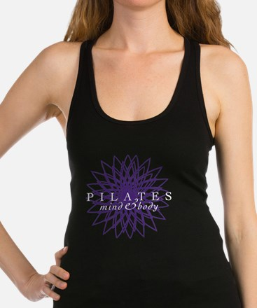 purple_white_large Racerback Tank Top