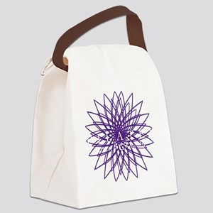 purple_white_large Canvas Lunch Bag