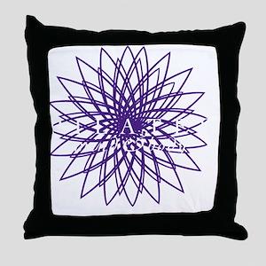purple_white_large Throw Pillow