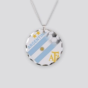 argentina aa Necklace Circle Charm