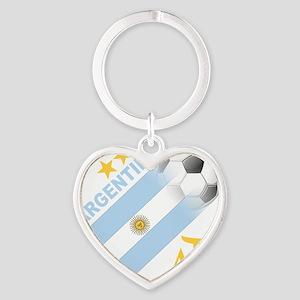 argentina aa Heart Keychain
