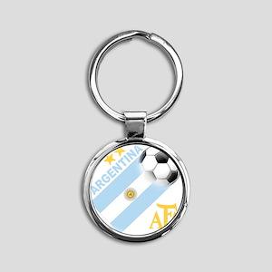 Argentina Round Keychain