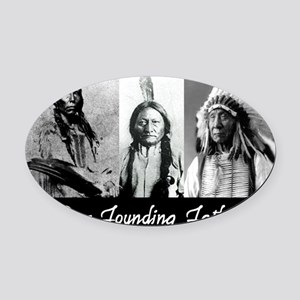 real founders Oval Car Magnet