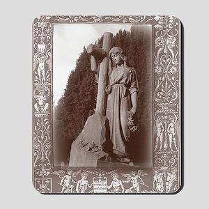 faith and the cross card Mousepad