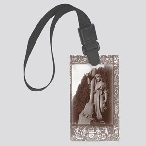 faith and the cross card Large Luggage Tag