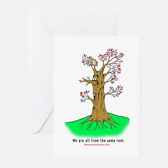 Uniting Flags Greeting Cards (Pk of 10)