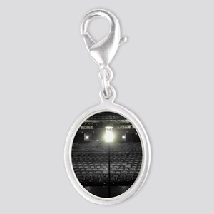 Ghost Light Silver Oval Charm