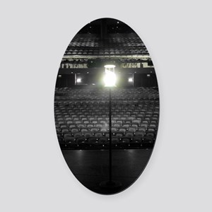 Ghost Light Oval Car Magnet