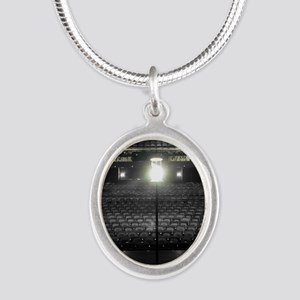 Ghost Light Silver Oval Necklace