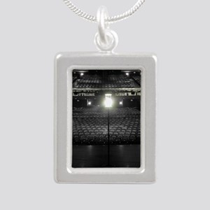Ghost Light Silver Portrait Necklace