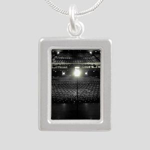 Ghost Light Silver Portrait Necklace