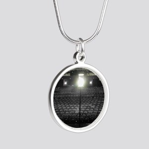 Ghost Light Silver Round Necklace