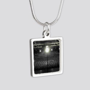 Ghost Light Silver Square Necklace