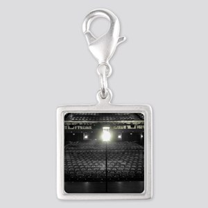 Ghost Light Silver Square Charm