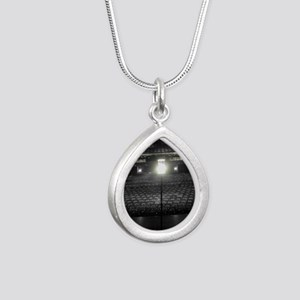 Ghost Light Silver Teardrop Necklace