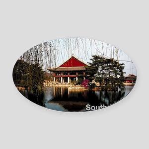 SouthKorea5 Oval Car Magnet